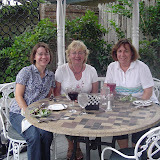 Carrie, Cindy and Debbie at Raintree for dinner.