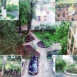 Владимир Комсомольский проспект, 72. Составлен план придомовой территории, спланированы и сделаны своими руками дорожки площадь под пешеходные дорожки, высажен газон , пасажены молодые деревья, оборудованы клумбы под цветы.