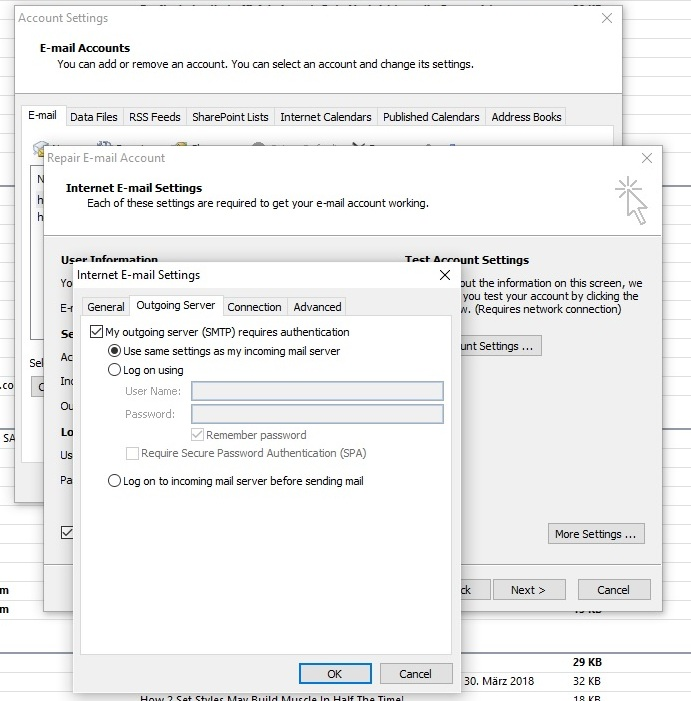Gmail and Outlook 2007 suddenly not working - Gmail Help