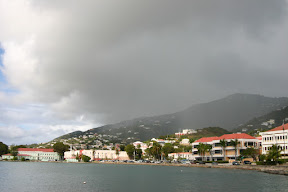 Clouds descending over Charlotte Amalie, Saint Thomas
