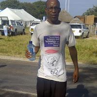 Okavango Half Marathon finisher (he ran in socks)