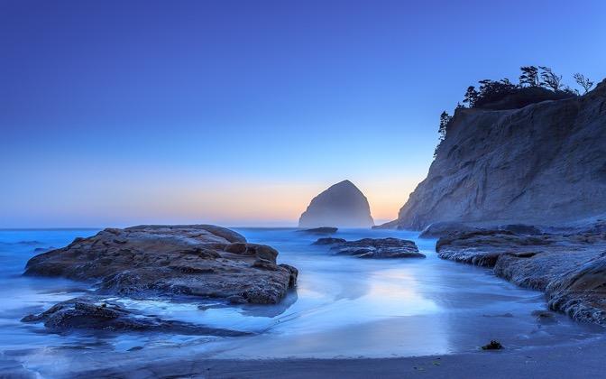 Haystack Sunset by jdphotopdx1