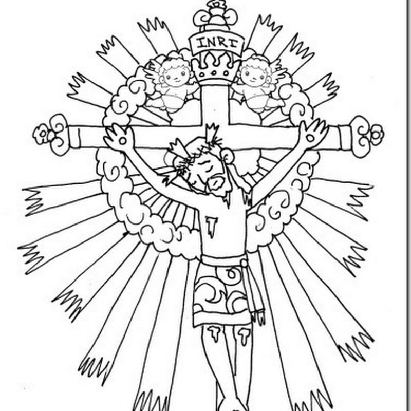 colorear dibujos Señor del Milagro y Virgen de Salta