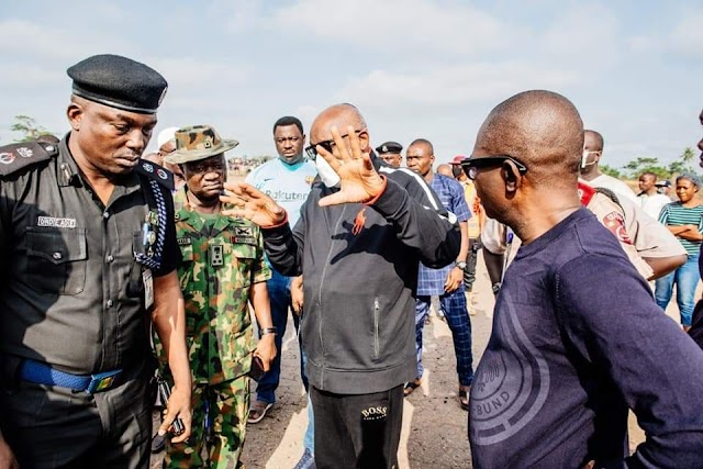 """Akure Explosion Exclusive Pictures: """"Undetonated Devices Might Still Be Stucking In Unseen Corners"""" - Akeredolu Visits Scene, Warns"""