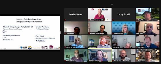 Screen shot of Industry panel slide and some participants