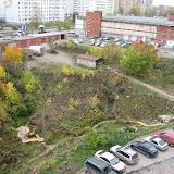 Исток ручья - общий вид на ул. Пушкарская и комплекс Пушка