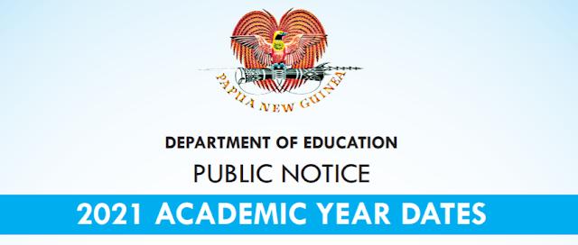 2021 National Examination Dates