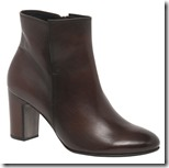 Gabor dark brown leather ankle boot