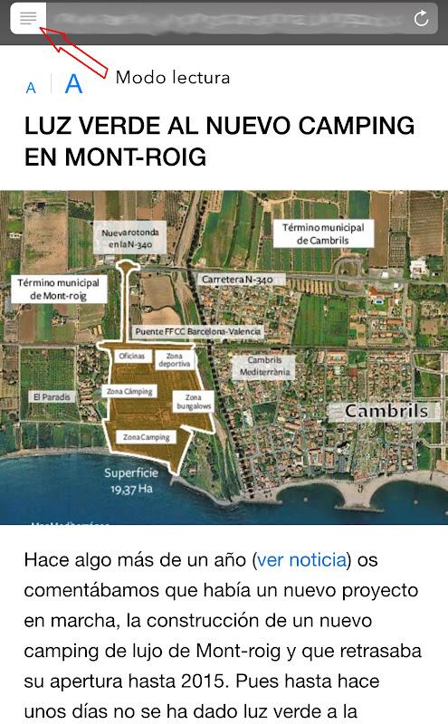 Nueva web Campings en Tarragona adaptativa