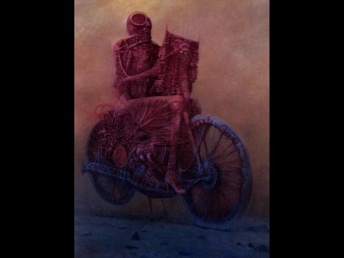 Zdzislaw Beksinski Dead On Bike, Death