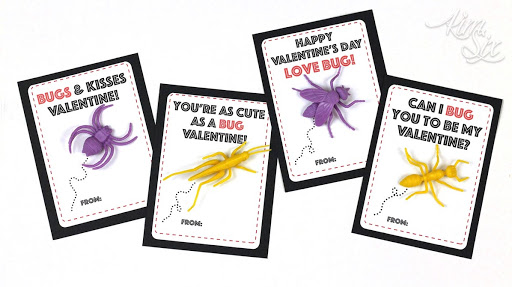 picture about Bugs and Kisses Printable named Plastic Bug Higher education Valentine (Absolutely free Printable) - The Kim 6 Maintenance