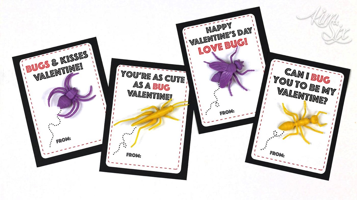 Printable bug school valentines