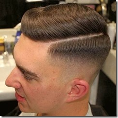 Fade Haircut Comb Over Fade with Part