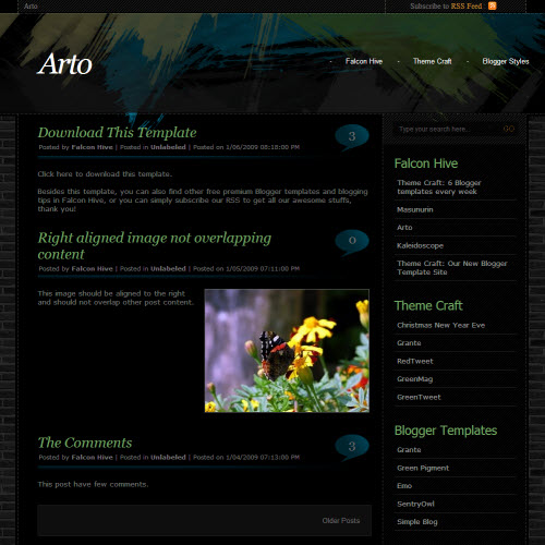 Arto,blogger,Templates for blogger