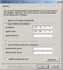 IP Address PC - dibuat satu kelas dengan SICAM A8000