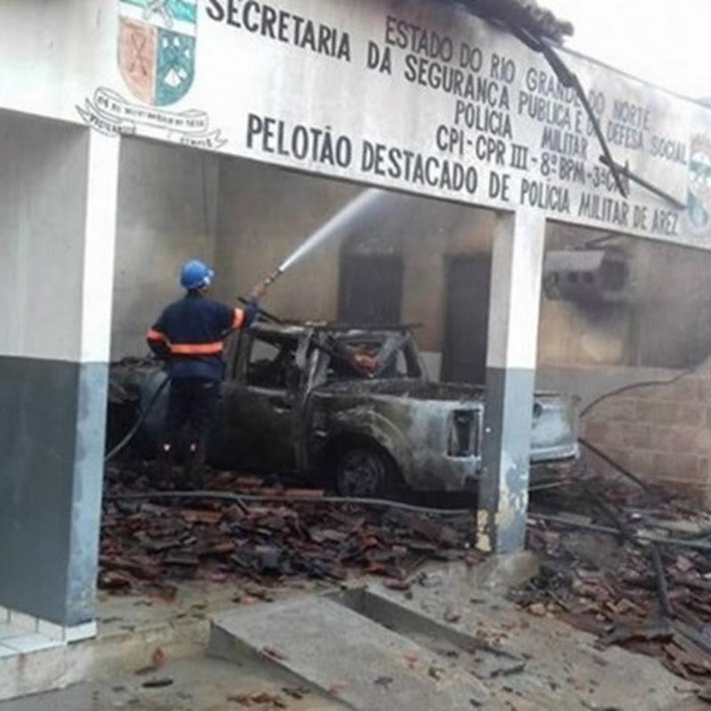 Unidade da PM é incendiada no Rio Grande do Norte