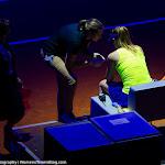 STUTTGART, GERMANY - APRIL 20 : Alize Cornet in action at the 2016 Porsche Tennis Grand Prix