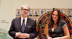 Larry List, co-creator of the roulette chess wheel with 2009 US Women's Champion Anna Zatonskih, Photo Betsy Dynako