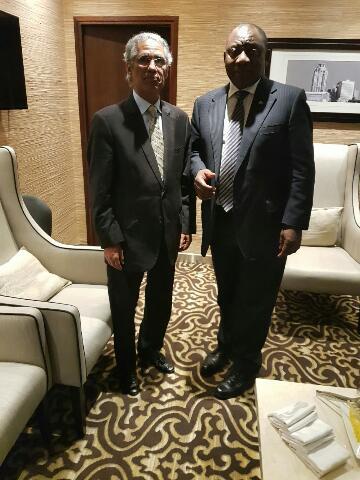 الرئيس الجنوب افريقي يستقبل وزير الخارجية الصحراوي محمد سالم ولد السالك