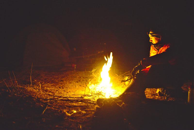 Foculetul cu a sa caldura, inainte de o noapte in care temperaturile au bine sub limita de inghet.