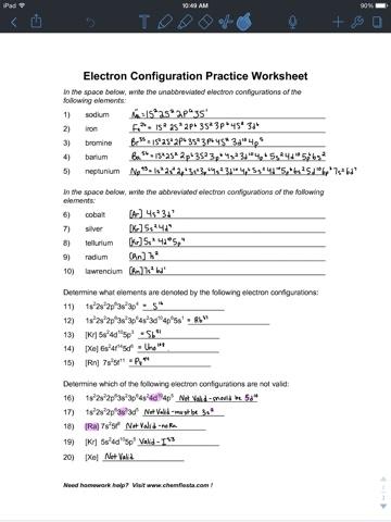 Lab Safety Electron Configuration Worksheet