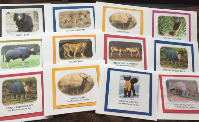 Kids Cards: Endangered Animals Valentine Card plus Crossword