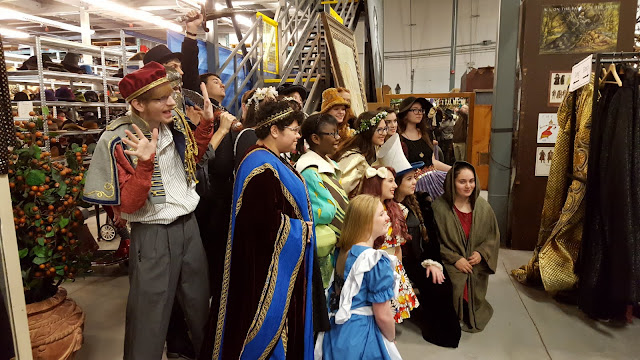 A class trying on costumes at the Stratford Festival Costume Warehouse. From Visiting Stratford, Ontario? The first thing you need to do...