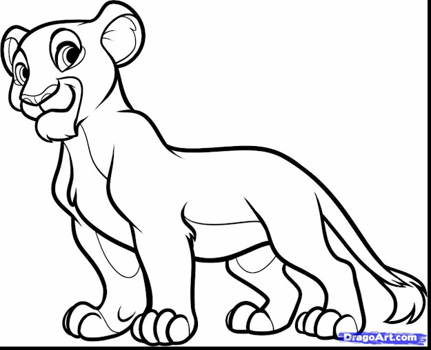 Fabulous How To Draw Nala From The Lion King As Kid With Lion King Coloring  Pages