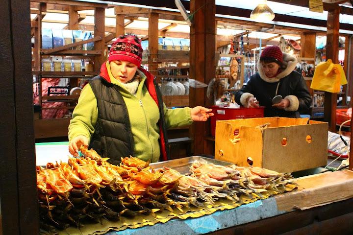 Omul, fish market listvyanka, lake baikal, russia