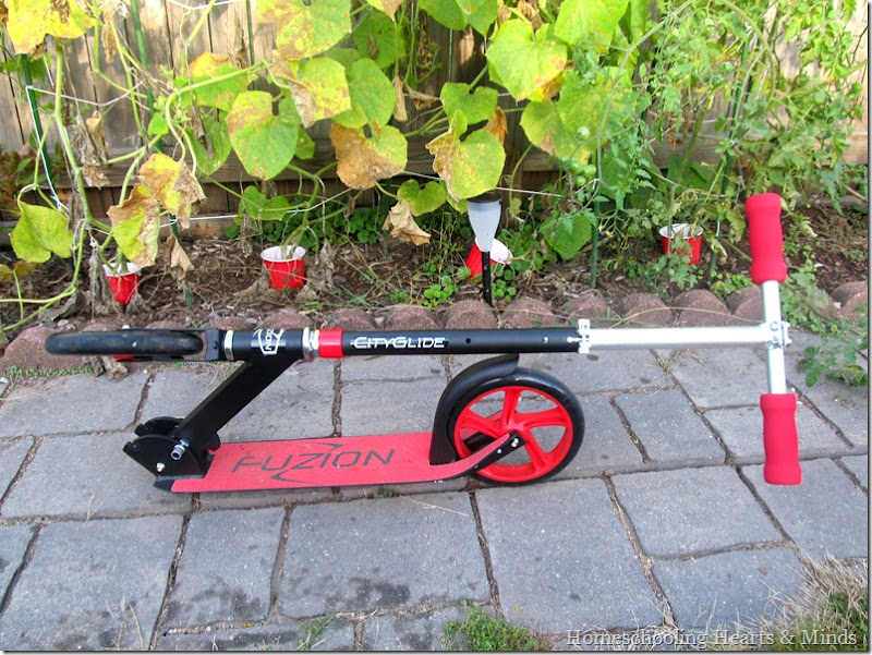Fuzion Cityglide scooter folded