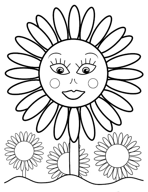Sunflower Coloring Pages With Free Printable Sunflower Coloring Pages For  Kids