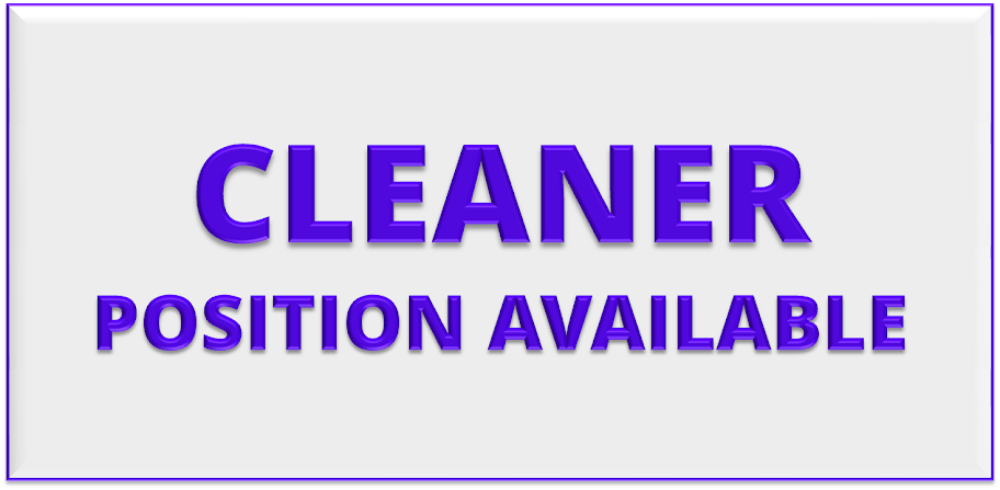 CLEANER POSITION AVAILABLE (Western Cape)