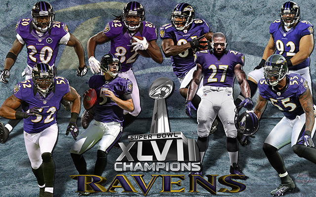 Baltimore Ravens Super Bowl XLVII Champions Team Wallpaper