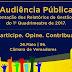 Prefeitura promoverá Audiência Pública para apresentar relatório da gestao fiscal