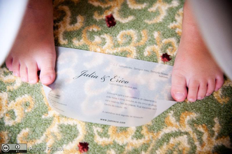 Foto de casamento 0009 de Julia e Erico. Marcações: 05/12/2009, Casamento Julia e Erico, Convite, Convite de Casamento, Gizela Studio 311, Rio de Janeiro.
