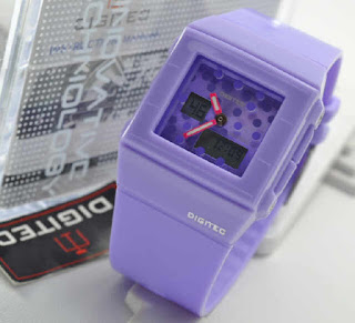jam tangan Digitec Original 3017T purple rubber