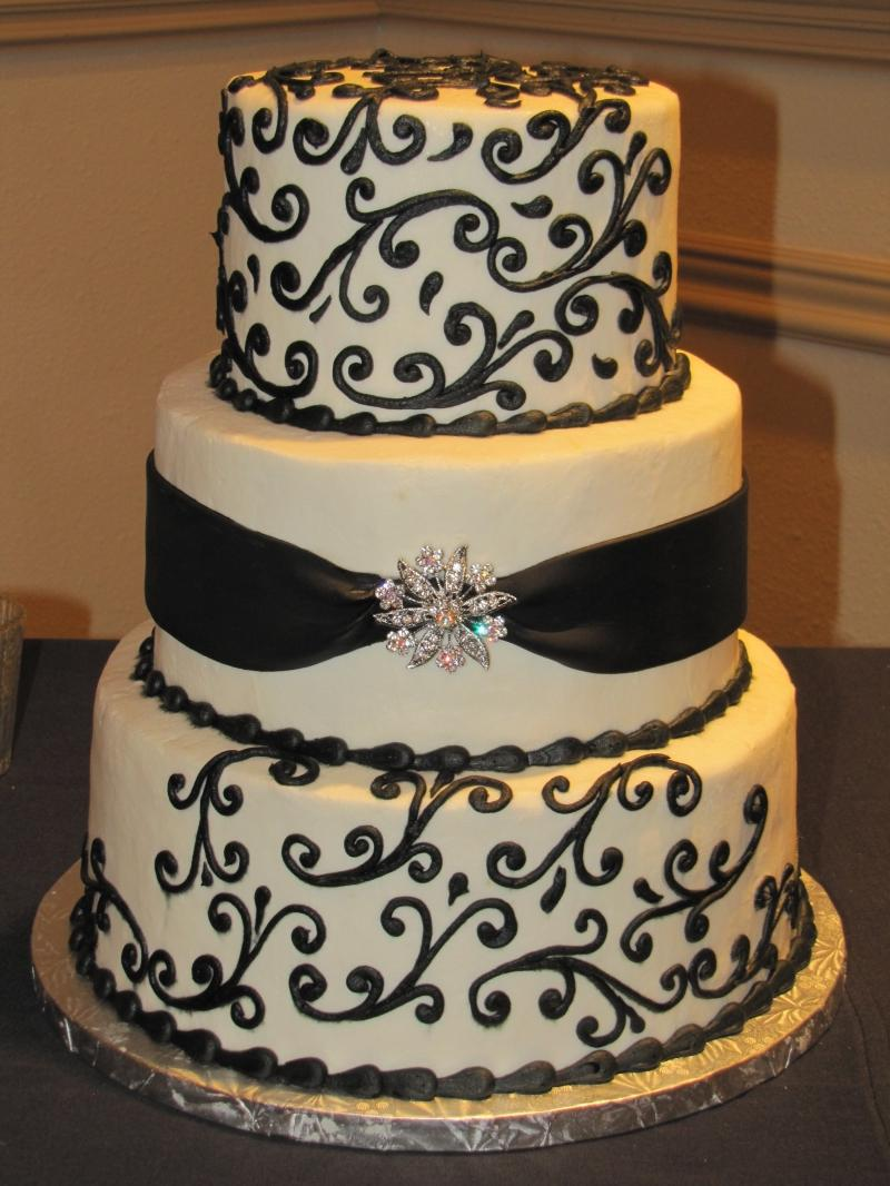 black red and white wedding