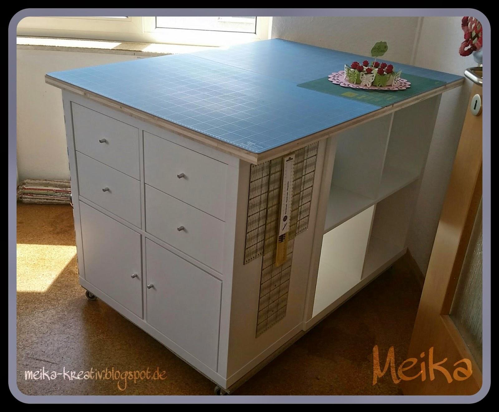 meika kreativ selbst gebauter zuschneidetisch endlich fertig diy ikea hack. Black Bedroom Furniture Sets. Home Design Ideas