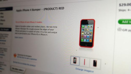 Apple launches (PRODUCT) RED bumper for iPhone