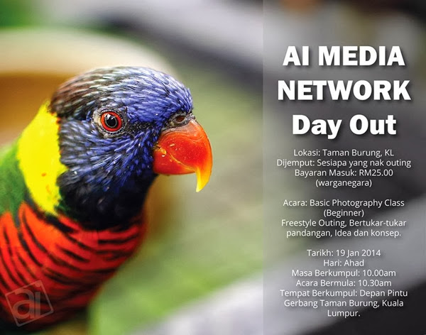 outing kamera DSLR di Taman Burung Kuala Lumpur