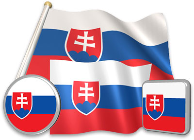Slovak flag animated gif collection