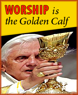 Worship is the golden calf. Words by Cosmic Rapture.