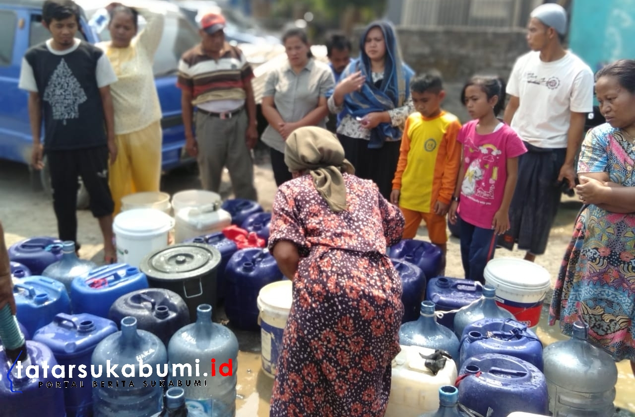 Diduga Akibat Tambang Galian Pasir Warga Titisan Sukalarang Krisis Air Bersih