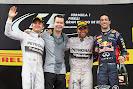 2014 Spanish podium: 1. Hamilton 2. Rosberg 3. Ricciardo