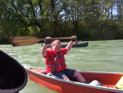 I made it through my first rapids!!  I ROCK!!