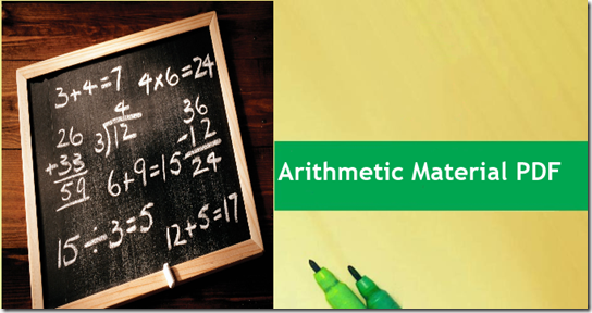 Get Arithmetic Material PDF For Bank Exams