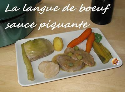 Langue de boeuf à la sauce piquante - recette indexée dans les Viandes