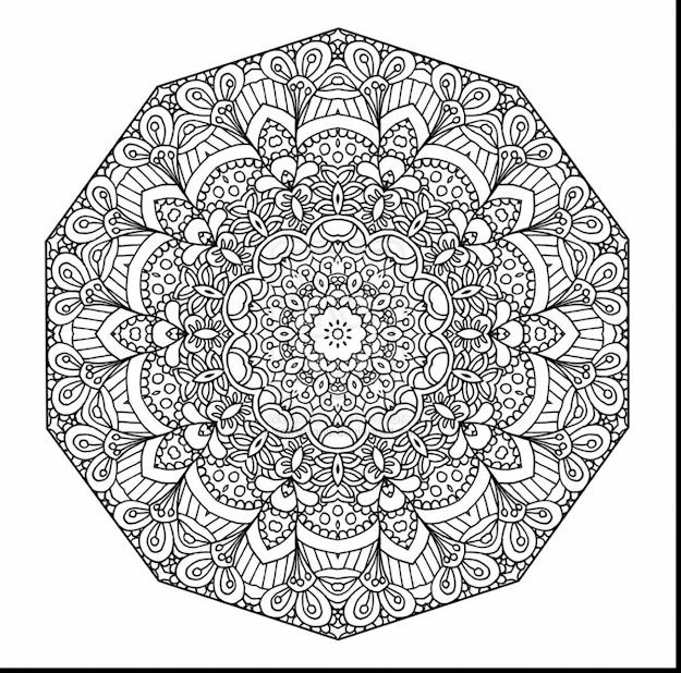 Fabulous Detailed Mandala Coloring Pages With Printable Mandala Coloring  Pages And Printable Mandala Coloring Pictures