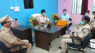 कटिहार/डीएसपी का स्वागत निवर्तमान को दी  विदाई । katihar news