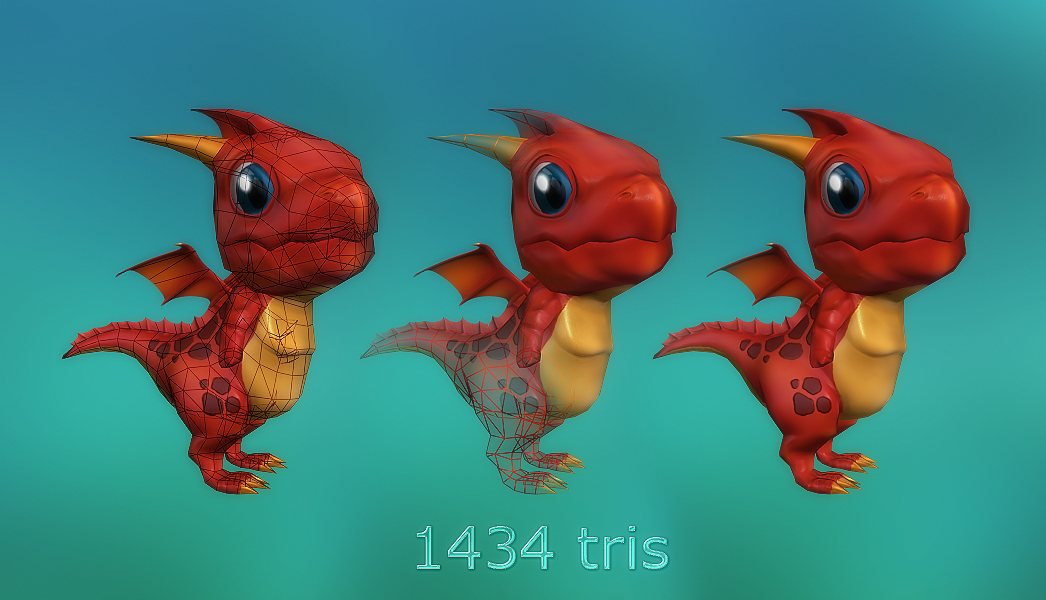 Lowpoly Toon Dragon and more - 50% off 01
